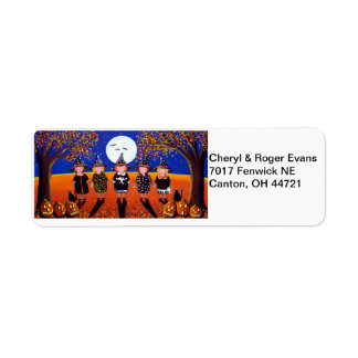 Little Witches Halloween Address Labels