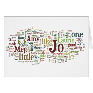 Little Women - Louisa May Alcott book words card