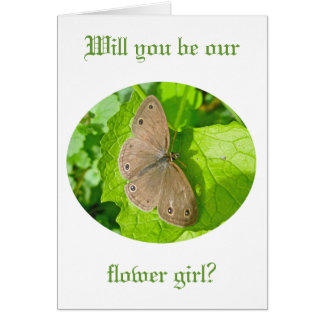 Little Wood Satyr Butterfly Coordinating Items Greeting Card