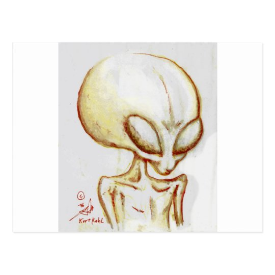 Little Yellow alien form -I am Number Four Postcard