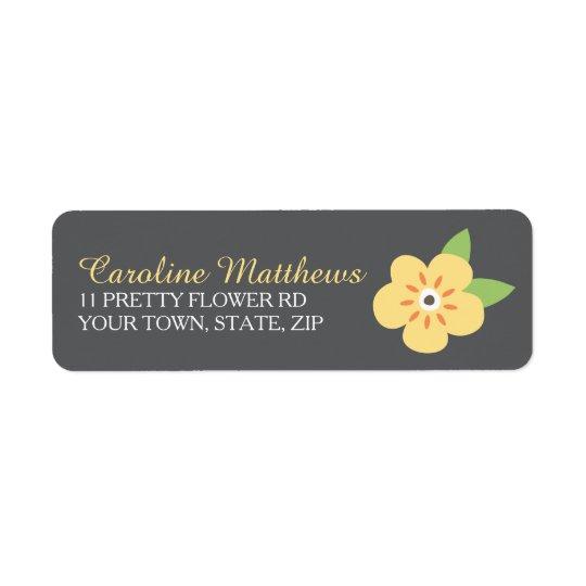 Little yellow flower custom return address