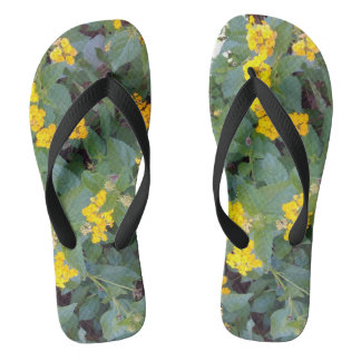 LITTLE YELLOW FLOWERS FLIP FLOPS