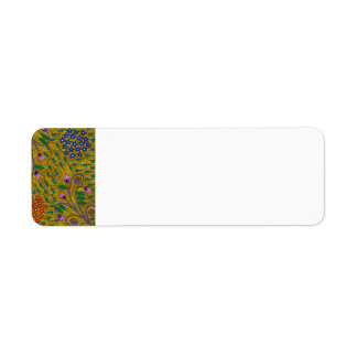 Little Yellow Garden Floral And Leaves Return Address Label