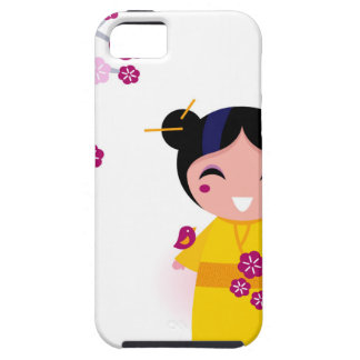 Little yellow Geisha on white iPhone 5 Cover