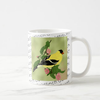 Little Yellow Goldfinch Bird Coffee Mug