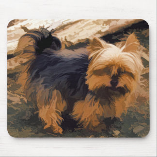 Little Yorkie   - Yorkshire Terrier Dog Mouse Pad