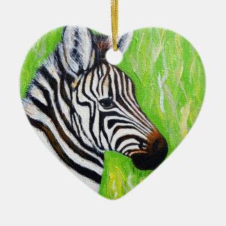 Little Zebra Ceramic Ornament