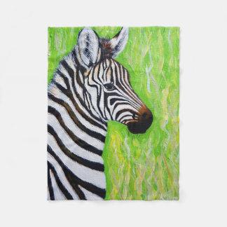 Little Zebra Fleece Blanket