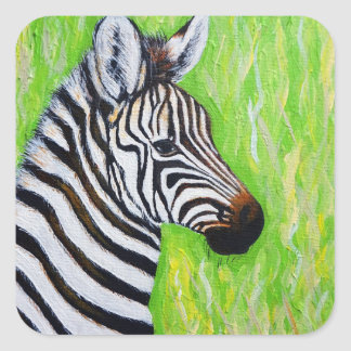 Little Zebra Square Sticker