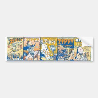 Little Zippy Comic Covers Bumper Sticker