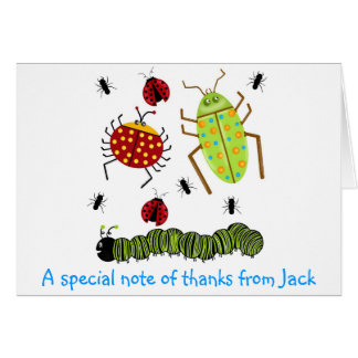 Littlebeane Bugs Insects  Ladybug Ant Caterpillar Card