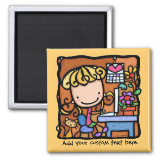 LittleGirlie aime au blog et au travail sur l'OR d Magnets Pour Réfrigérateur