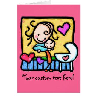 LittleGirlie aime son bébé ! Carte De Vœux