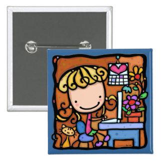LittleGirlie aime son BLEU d ordinateur et de mino Pin's