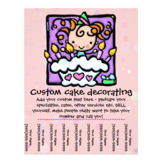 LittleGirlie Cake Decorator tear sheet flyer