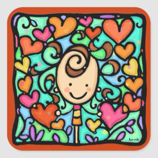 LittleGirlie est entouré par l amour Autocollant