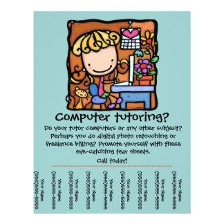 LittleGirlie est un tuteur d'ordinateur ! Customis Tract Personnalisé