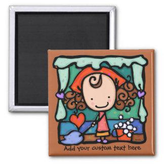 LittleGirlie favorise ses affaires de nettoyage !  Magnets Pour Réfrigérateur