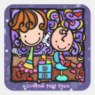 LittleGirlie loves makeovers! PURPLE sticker