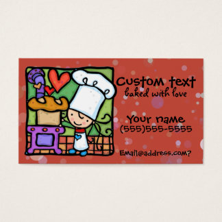 LittleGirlie loves to bake fresh bread Dk Rust Business Card