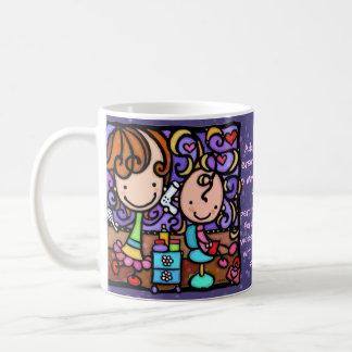 LittleGirlie plays Hair Stylist Dk PURPLE cup Classic White Coffee Mug