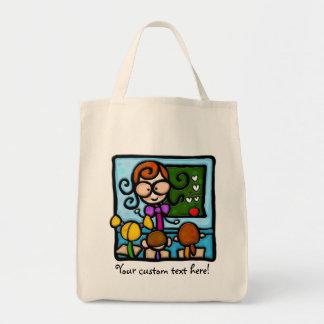 LittleGirlie plays teacher! Tote Bags