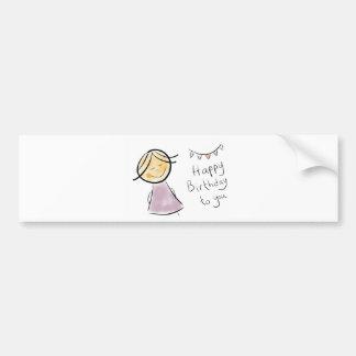 littlelady birthday celebration gifts bumper stickers