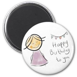 littlelady birthday celebration gifts refrigerator magnets
