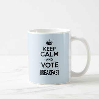 Littlest Cloud Keep Calm and Vote Breakfast mug