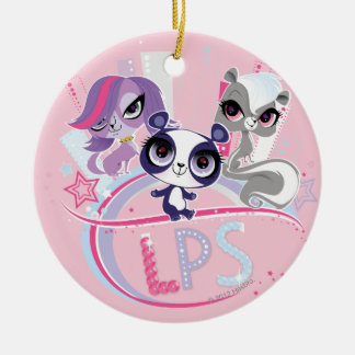 Littlest Pets in the Big City 1 Round Ceramic Ornament
