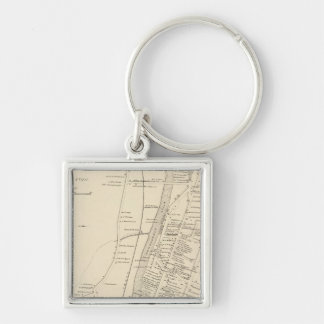 Littleton PO Silver-Colored Square Keychain