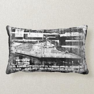 Littoral combat ship Independence Dawsonsf throwp Lumbar Pillow