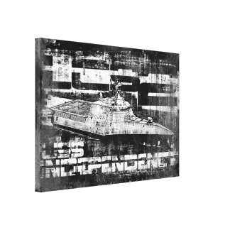 Littoral combat ship Independence Stretched Canva Canvas Print
