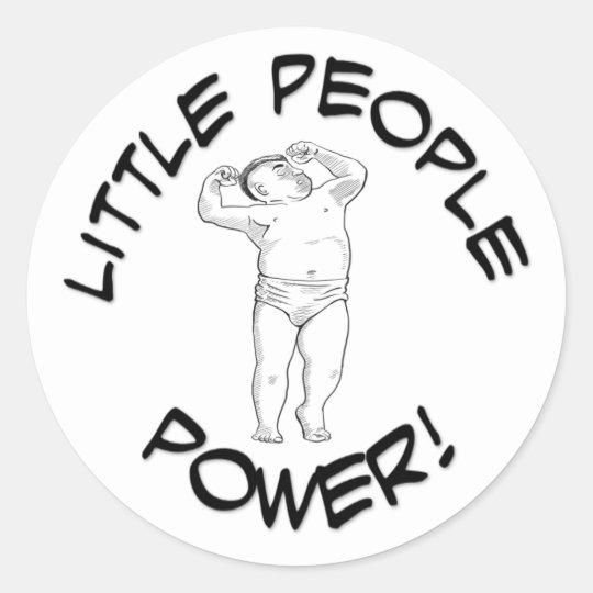 Litttle People Power Classic Round Sticker, Glossy Classic Round Sticker