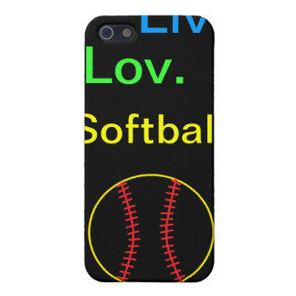 Liv. Lov. Softball iPhone 5 Cases