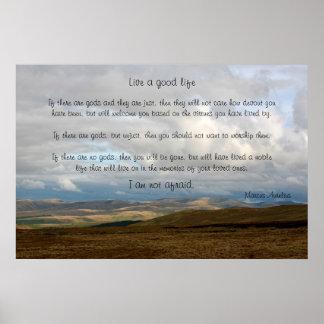 Live a good life - Marcus Aurelius Poster