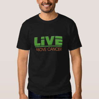 Live Above Cancer Logo with Green and orange Tshirts