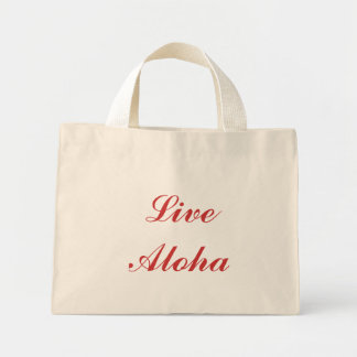 """Live Aloha"" canvas bag"