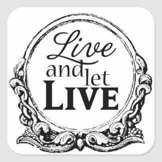 Live and Let Live craft stickers sheet of 20