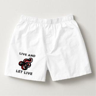 """""""Live and Let Live"""" Men's Boxercraft Cotton Boxers"""