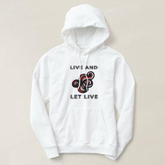 """Live and Let Live"" Men's Hooded Sweatshirt"