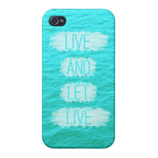 Live and Let Live Ocean iPhone Case Covers For iPhone 4