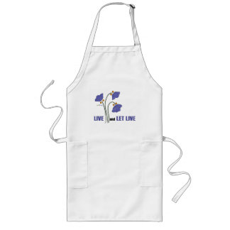 Live and Let Live (Recovery Quote) Long Apron