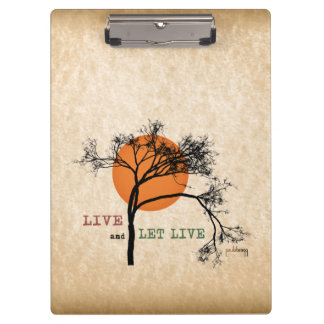 Live and Let Live (Recovery Silhouettes) Clipboard