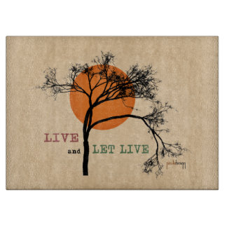 Live and Let Live (Recovery Silhouettes) Cutting Board