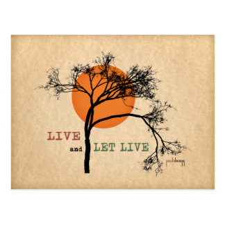 Live and Let Live (Recovery Silhouettes) Postcard