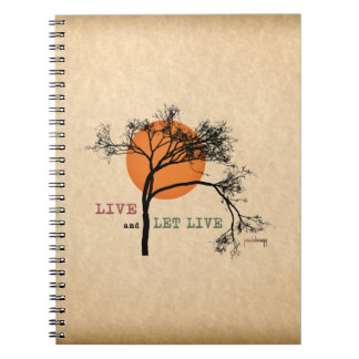 Live and Let Live (Recovery Silhouettes) Spiral Notebook