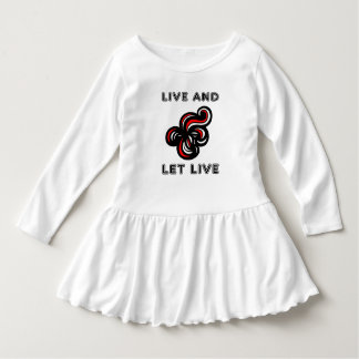 """""""Live and Let Live"""" Toddler Ruffle Dress"""