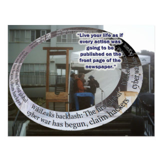 Live as if... Postcard