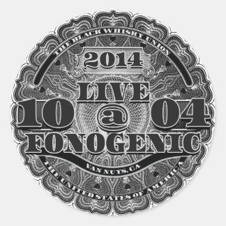 LIVE AT FONOGENIC - Round Sticker